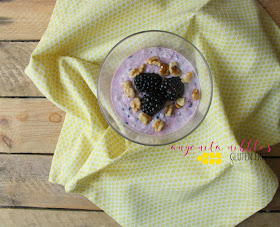 Bowl of gluten free chia pudding with blackberries and walnuts | Anyonita-Nibbles.co.uk
