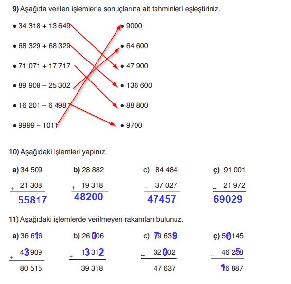 5. Sınıf Matematik SDR Dikey Yayınları 41. Sayfa Cevapları