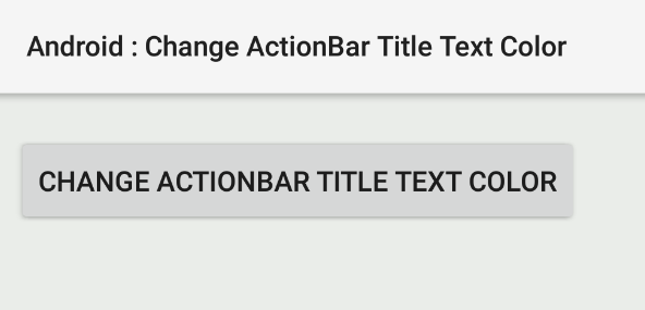 android - How to change ActionBar title text color