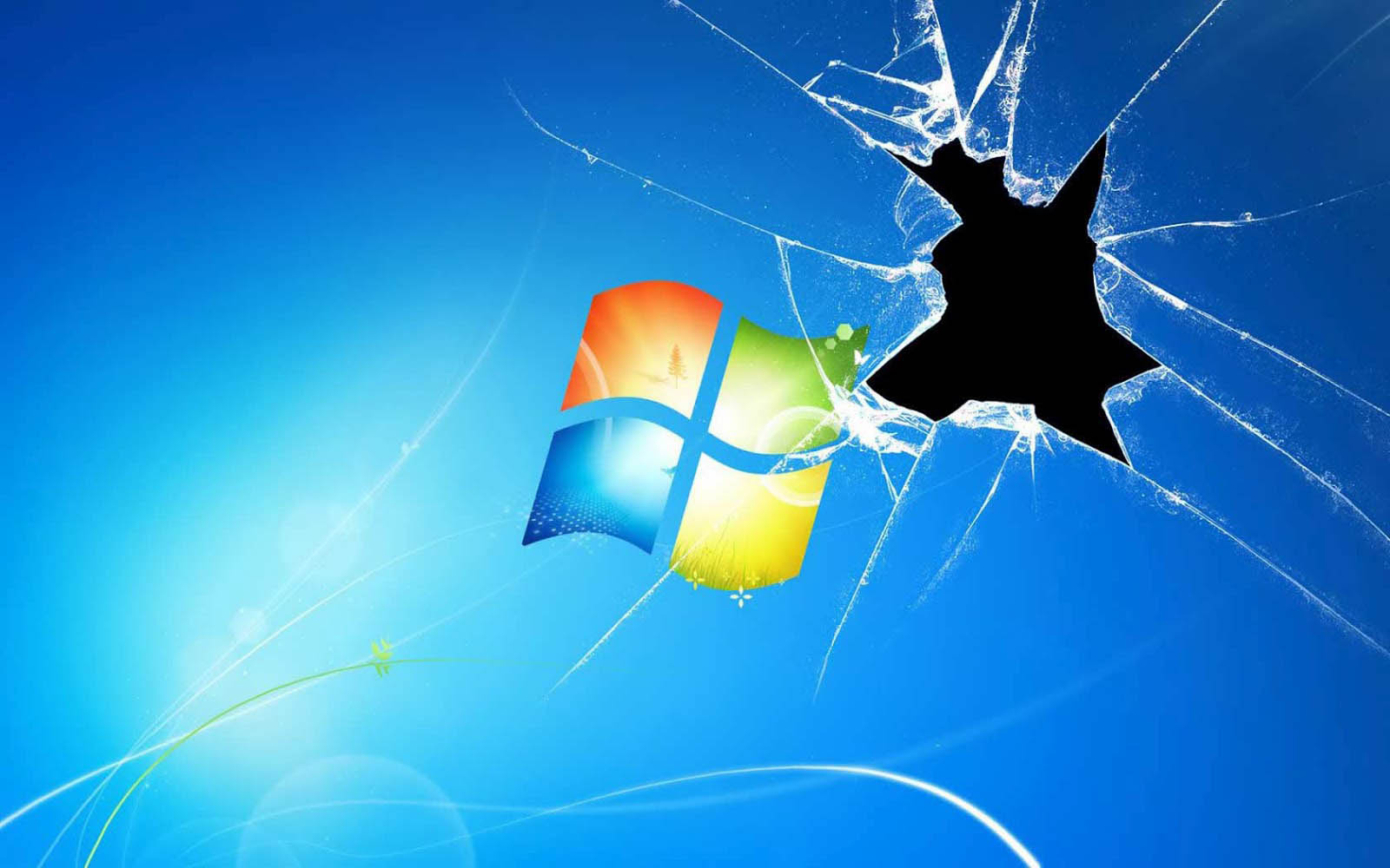 wallpapers: Windows Broken Glass Wallpapers