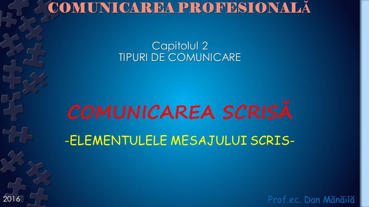 formele de comunicare scrisa)