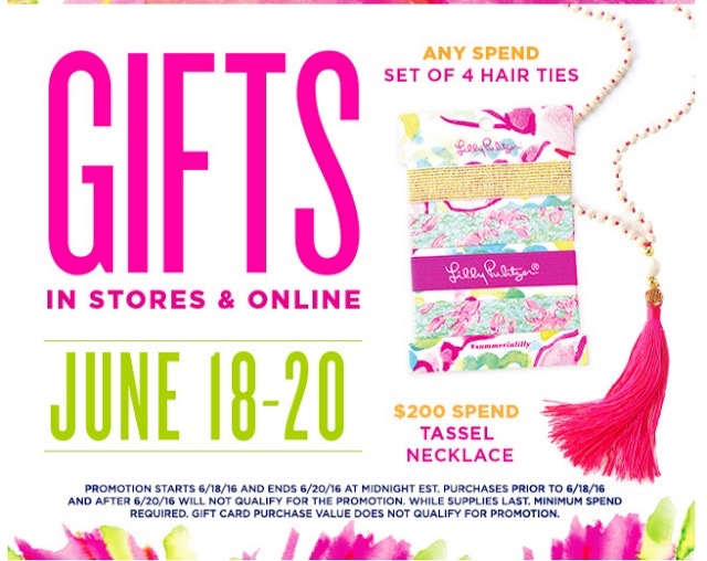 Today is the last day to earn a gift with purchase at Lilly Pulitzer. I'm feelin' tassels at the moment, and LOVE the GWP necklace.