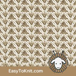 Textured Knitting 21: Gull Check | Easy to knit #knittingstitches #knittingpattern
