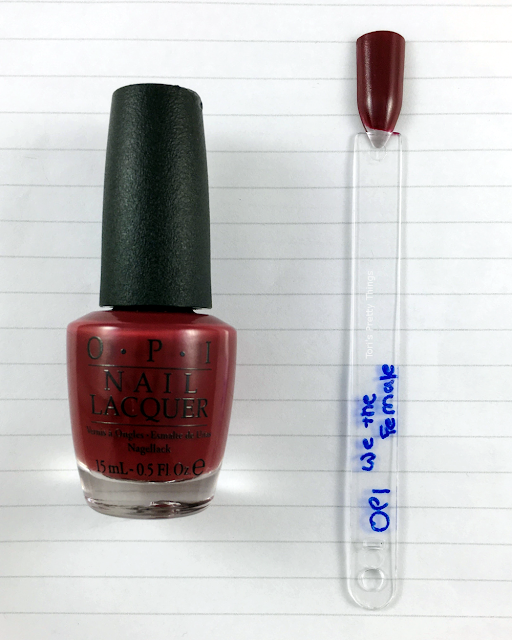Tori's Pretty Things// OPI We The Female Swatch