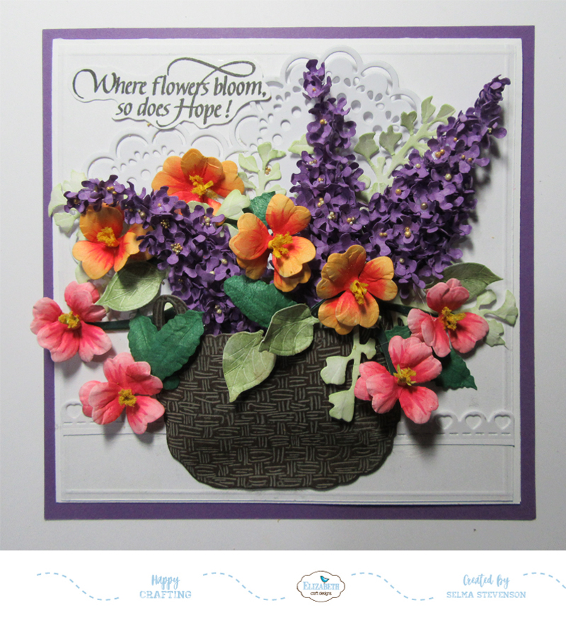 Selma S Stamping Corner And Floral Designs Garden Notes Basket Of