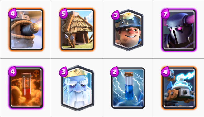 P e k k a miner control deck for arena 12 clash royalepedia for Deck pekka arene 6