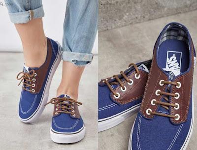 zapatillas vans azules modelo Brigita