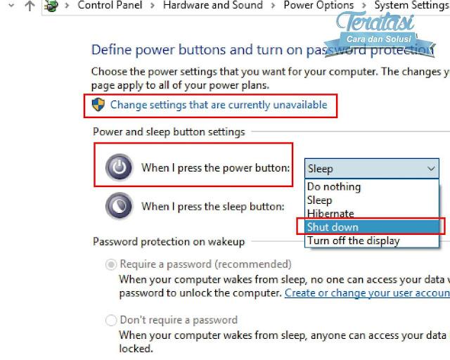 Trik Cara Ampuh Mengatasi Masalah Gagal Shutdown di Windows 10, layar mati akan tetapi mesin tetap hidup, itu bisa dilihat dari lampu indikator pada perangkat anda yang masih menyala walau layar telah mati., CARA 1 : POWER OPTIONS SYSTEM SETTINGS, CARA 2 : MENGGUNAKAN REGISTRY EDITOR, CARA 3 : DOWNGRADE INTEL MANAGEMENT ENGINE DRIVER, Hilangkan tanda centang untuk opsi Turn on fast startup (recommended) dan Hibernate
