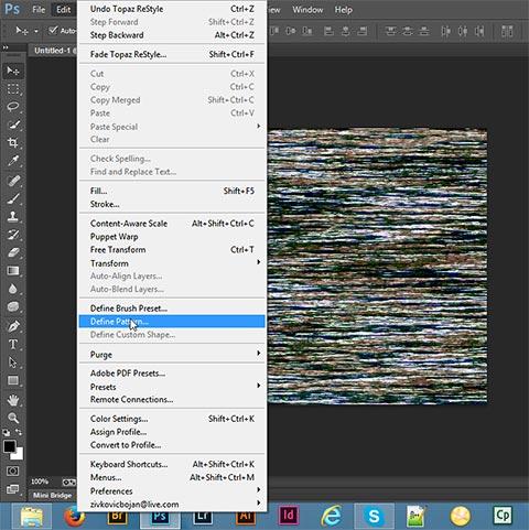 Save pattern in Adobe Photoshop