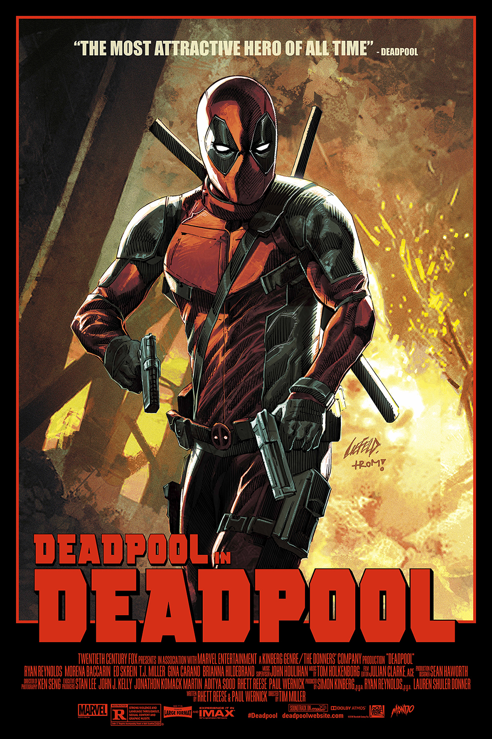 INSIDE THE ROCK POSTER FRAME BLOG: Rob Liefield Deadpool ...