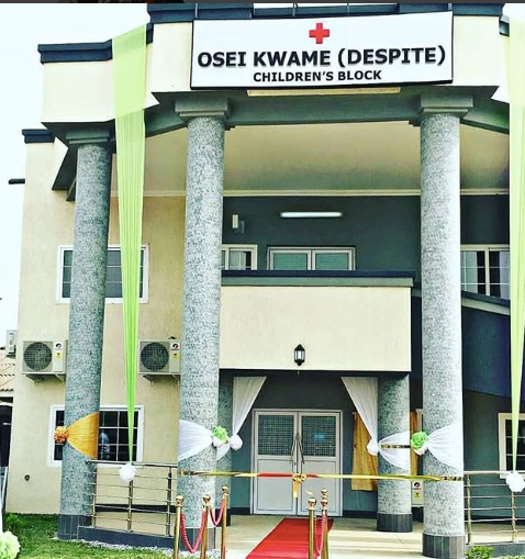 Dr. Osei Kwame Despite builds children's block for 37 Military Hospital as a birthday gift