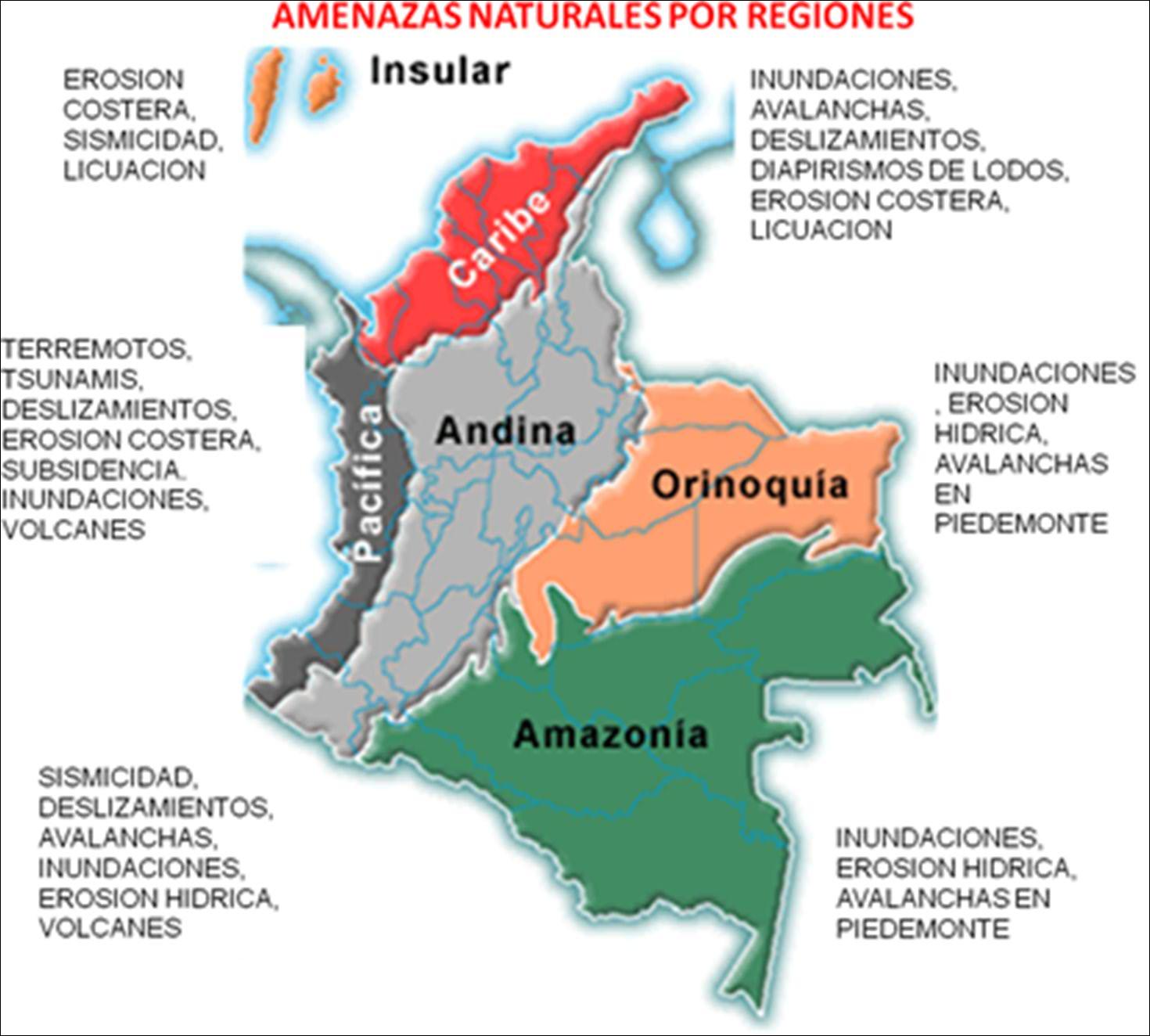 Mapa De Las Cordilleras De Colombia Para Colorear