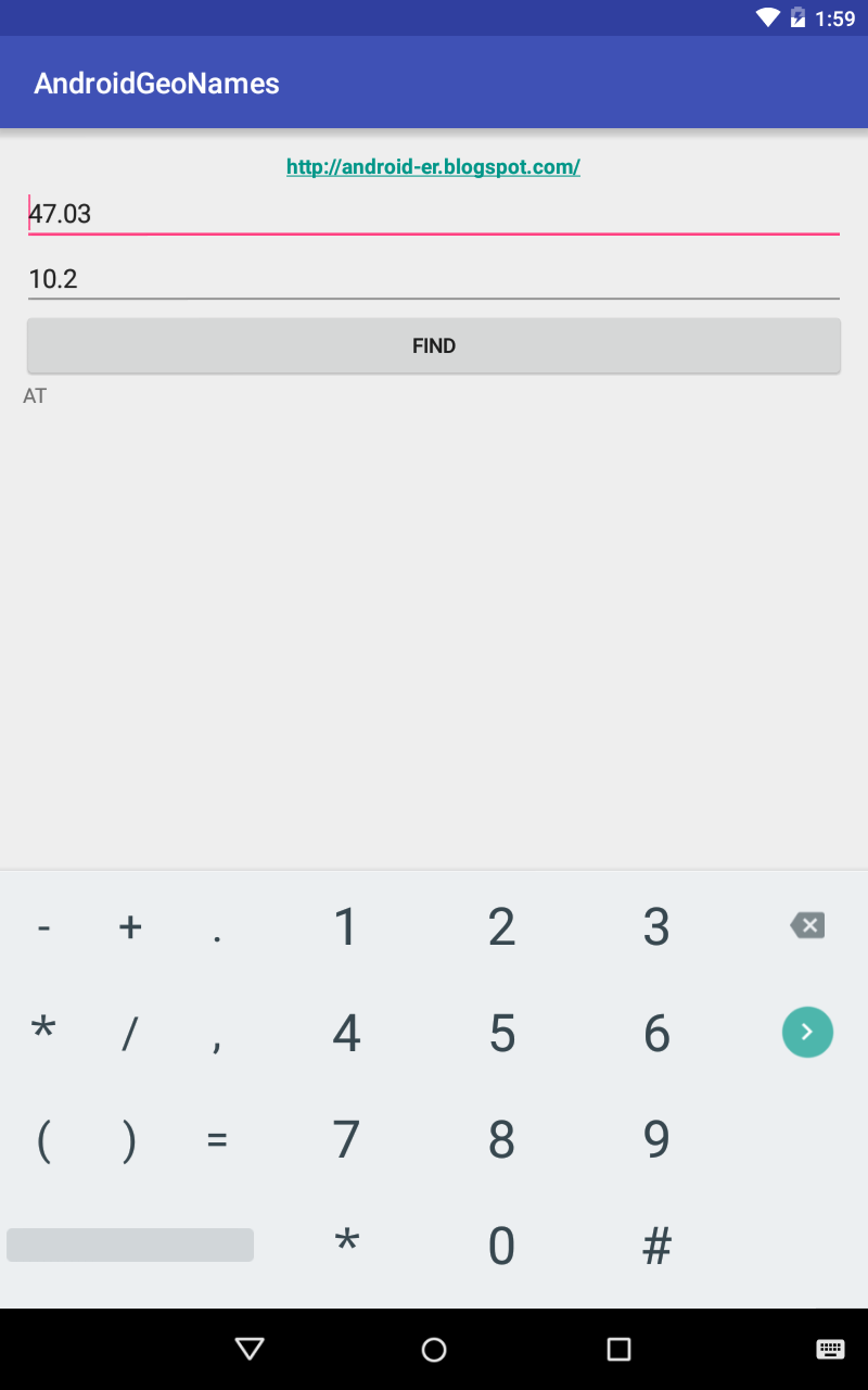 Android-er: Get ISO country code for the given latitude