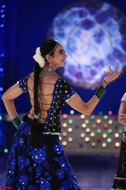 Rakul Preet Singh dance in Blue and yellow choli HD Pics from Movie Winner 001.jpg