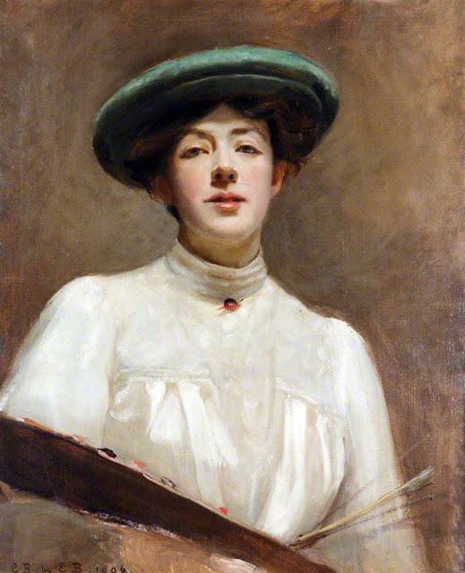 Evelyn Blacklock, Self Portrait, Portraits of Painters, Fine arts, Portraits of painters blog, Paintings of Evelyn Blacklock, Painter Evelyn Blacklock