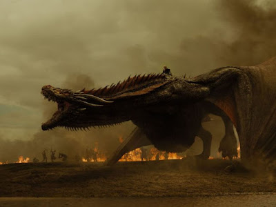 Drogon, fiery dragon in Game of Thrones