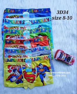 Celana Dalam Boxer Anak Motif Superman 3D34
