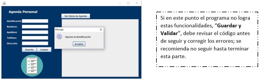 Botón guardar en Java netbeans