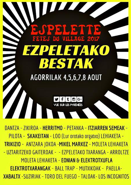 ezpeletako bestak 2017 fêtes d'espelette 2017