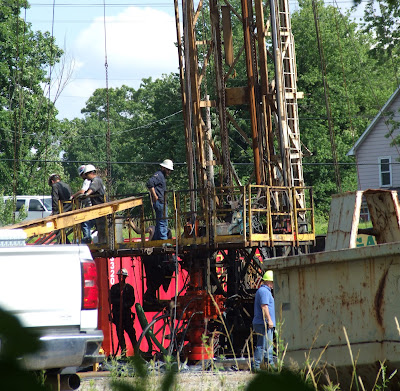 workers on site of Coitsville, Ohio injection well