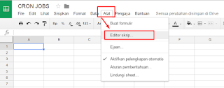 Cara Setting Cronjob di cPanel X / Google Sheets