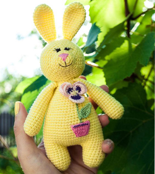 Amigurumi Rabbit Baby Rattle - Free Pattern