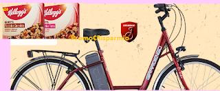 Logo Con le Barrette Kellogg's vinci 60 biciclette elettriche
