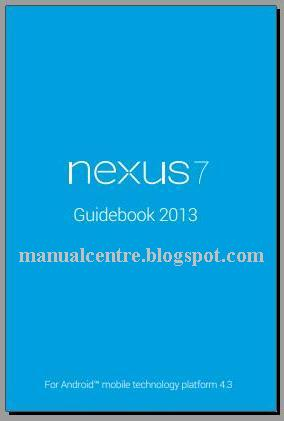 Asus Google Nexus 7 2 Manual Cover