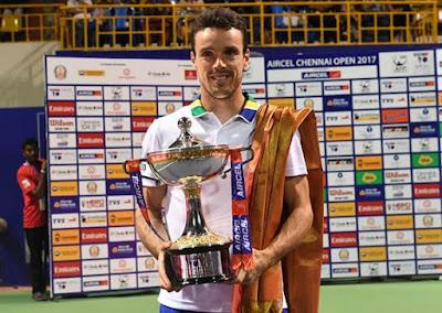 स्पेन के रॉबर्टो बतिस्ता अगुत ने डेनिल मेदवेदेव को 6-3, 6-4 से हराकर चेन्नई ओपन टेनिस टूर्नामेंट जीता