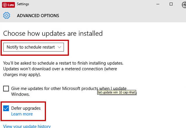 Tắt Update Windows 10 nhanh chóng, đơn giản, hiệu quả nhất d