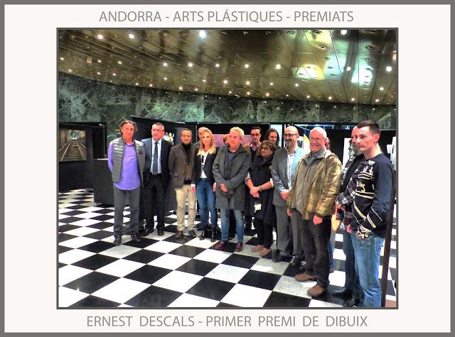 ARTS PLÁSTIQUES-ANDORRA-CONCURS-FOTOS-PREMIS-ARTISTES-PREMIATS-PRIMER-PREMI-DIBUIX-PINTOR-ERNEST DESCALS-