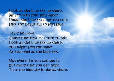 poem blue sky