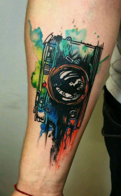Creative Camera Watercolor Tattoos