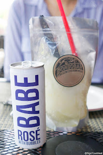 Ice, Ice, Babe - Lemon Italian Ice and Babe Rose Can at Bar Siena in Chicago