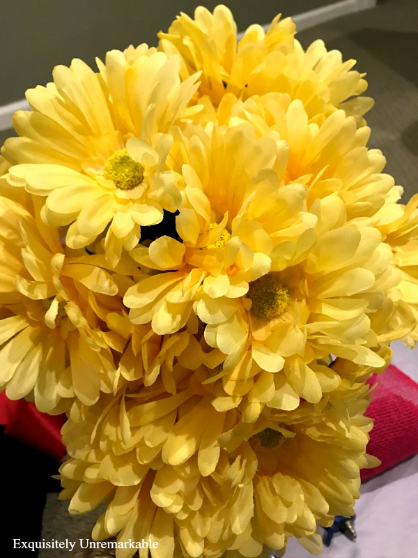 Yellow Dollar Store Daisies