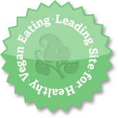 "THIS BLOG LISTED ON ""101 LEADING SITES FOR HEALTHY VEGAN EATING"