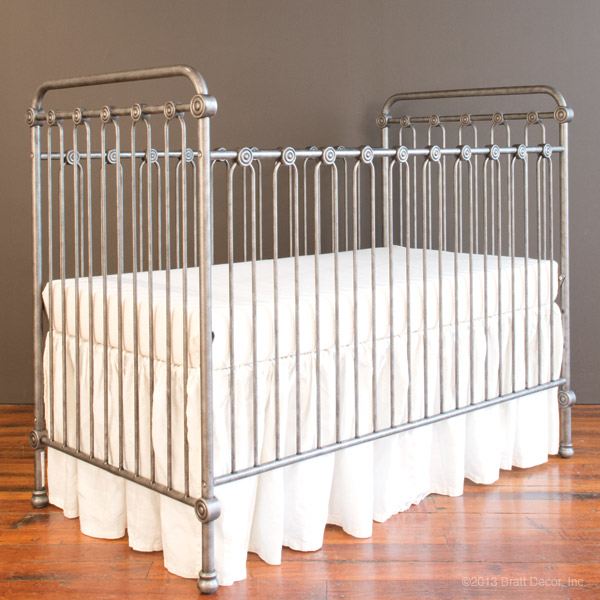 Bratt Decor brushed pewter crib