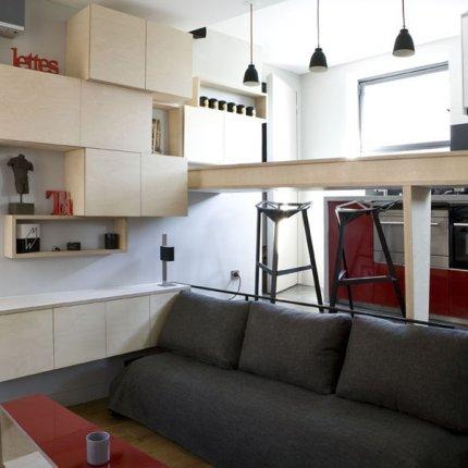 arquitetando ideias transformando um banheiro grande em um pequeno apartamento. Black Bedroom Furniture Sets. Home Design Ideas