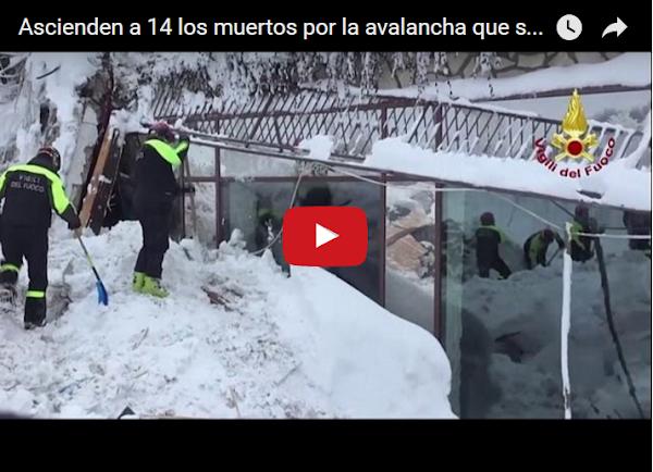 14 muertos más en el hotel sepultado por avalancha en Italia