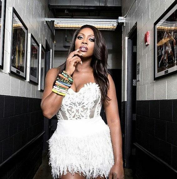 Tiwa Savage looks smashing in fringe dress