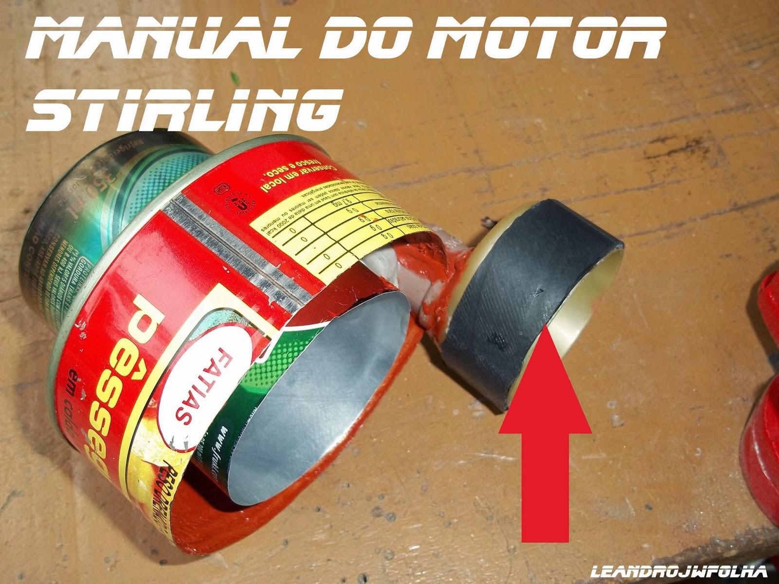 Cilindro do pistão de trabalho (motor Gama), Manual do motor Stirling