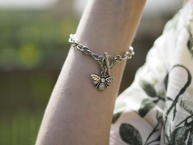 Danon jewellery Swarovski set bee charm bracelet