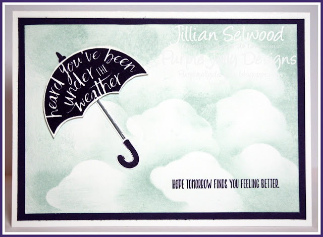 You're my #1 Hero stamp set, umbrella, heard you've been under the weather