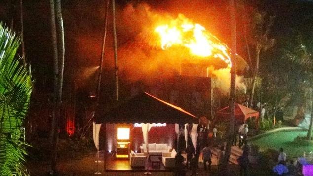 Sri Lanka president evacuated from luxury hotel fire