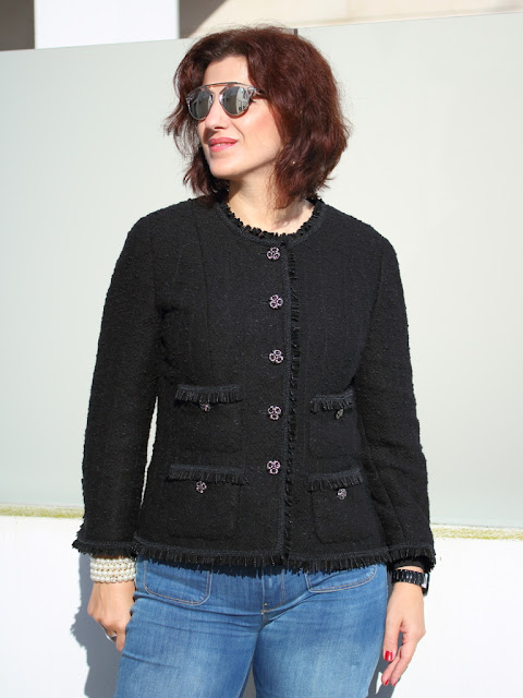 Beautiful Classic French Jacket using Vogue 7975 OF39