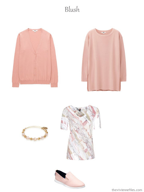 French 5-Piece Wardrobe in blush for warm weather