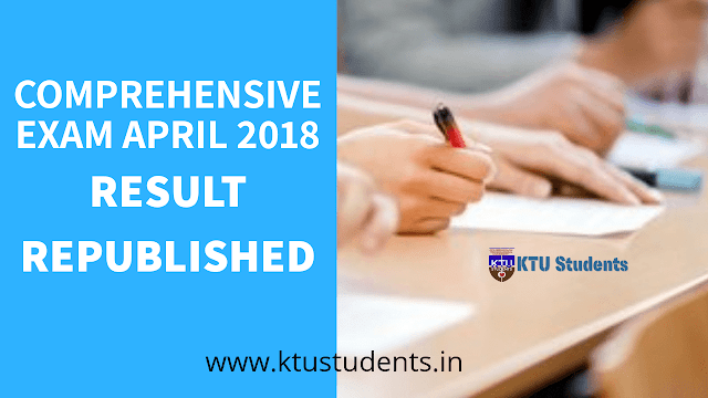Ktu Comprehensive Examination April 2018 Results Revoked and Republished