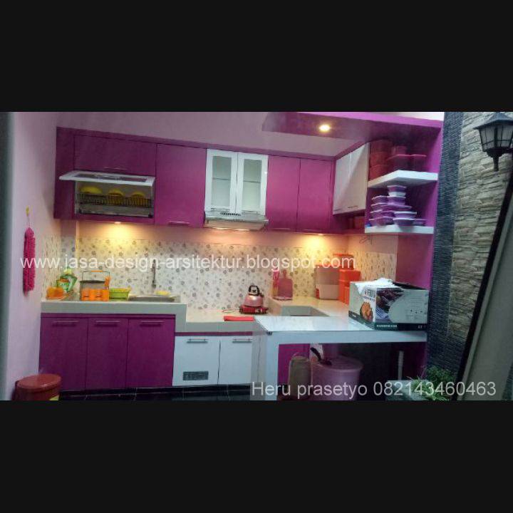 Kitchen Set Warna Orange: Kontraktor Interior Surabaya Sidoarjo: Desain Kitchen Set