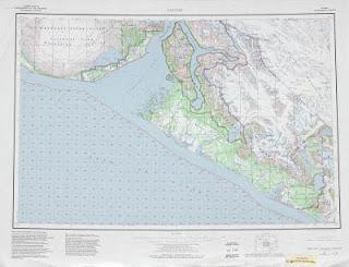 Yakutat 1982 United Stats 250000 map