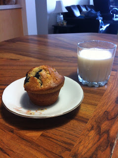 Muffin and a glass of milk